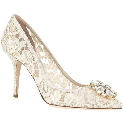 Dolce & Gabbana Bellucci Embellished Lace Pump ($880) ❤ liked on Polyvore featuring shoes, pumps, embellished pumps, floral pumps, floral pattern pumps, sparkly shoes and floral print pumps