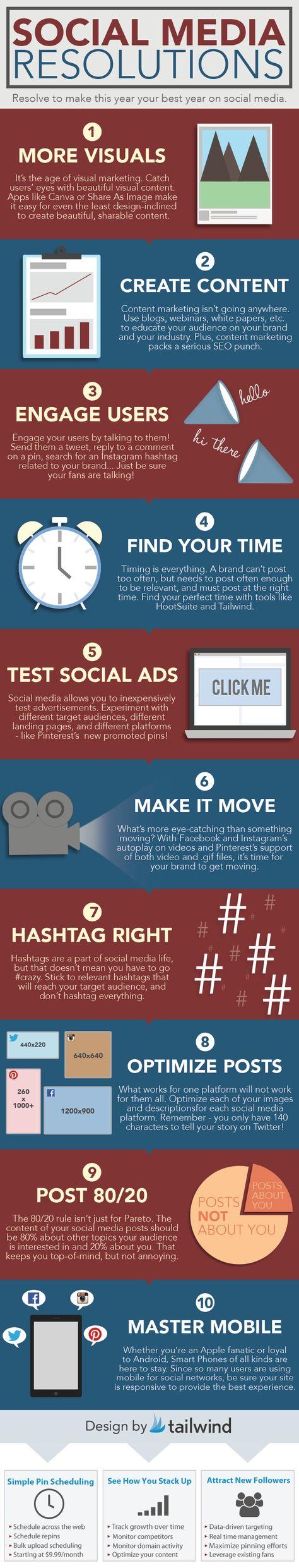 Social Media New Year's Resolutions
