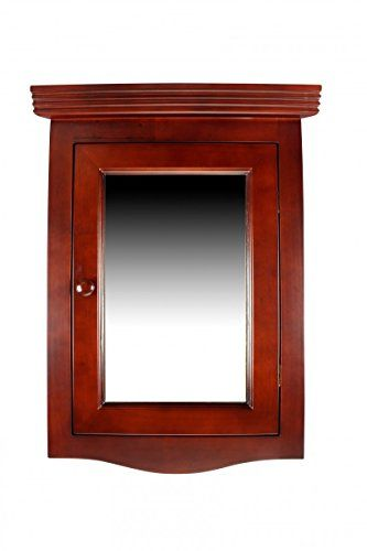 Renovator S Supply Cherry Wood Corner Wall Mount Medicine Mirror Cabinet Fully Assembled Solid Hard Wood Bathroom Wall Mounted Medicine Cabinet Mirror Cabinets