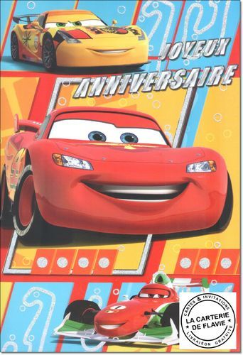 Carte anniversaire de cars
