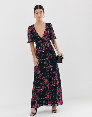 20976dfa4d25 Fashion Union Petite maxi dress in dobby floral in 2019 | clothing ...
