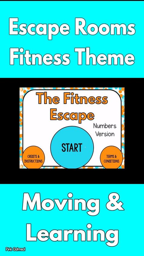 The fitness themed escape rooms are sooo much fun! In this pack are three different fitness themed escape rooms! The fitness themed escape rooms can be played digitally but the hard copies are available to print and set-up as well. I love that I can pla Movement Activities, Team Building Activities, Therapy Activities, Elderly Activities, Leadership Activities, Dementia Activities, Sensory Activities, Physical Activities, Elementary Physical Education