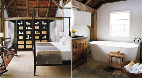 rustic wood + tdf bath