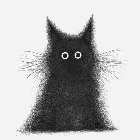 Artist Draws Obscure But Adorable Creatures From Hundreds Of Hatched Line