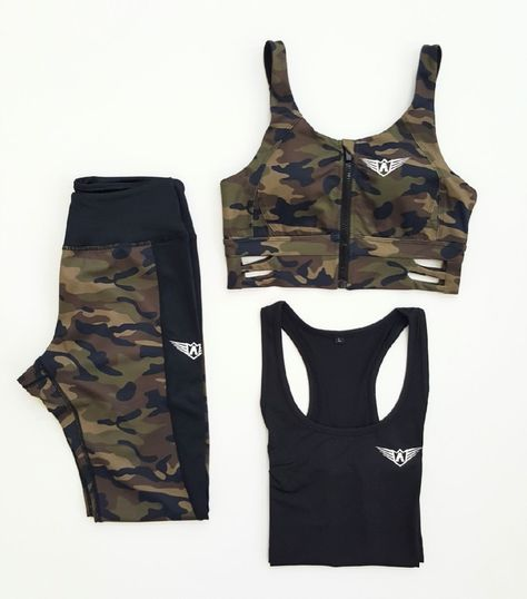 8cd7cad98fc1c FIT ARMY - Gym outfit sets ( Military camouflage and black legging ...