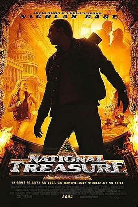 National Treasure 2004 Nicolas Cage Posteres De Filmes