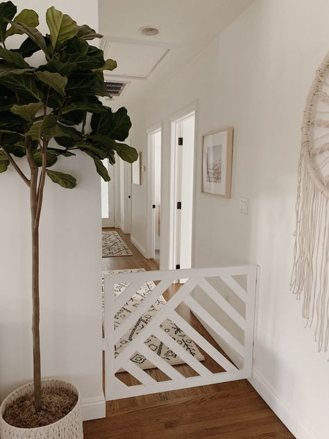 hallway decorating 491736853065502277 - our simple hallway makeover – almost makes perfect Source by Diy Dog Gate, Diy Baby Gate, Baby Gates, Pet Gate, Narrow Hallway Decorating, Narrow Entry Hallway, Stair Gate, Small Hallways, Home Reno