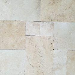 12mm Classic Linen Travertine French Pattern Tile Set Stonehaus Brisbane Gold Coast Sunshine Coast Natural Stone Flooring Tile Patterns Classic Linen