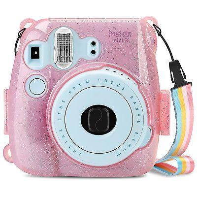 For Fujifilm Instax Mini 8 8 9 Instant Camera Clear Case Hard Shining Cover Polaroid Instax Mini Fujifilm Instax Instax Mini Case