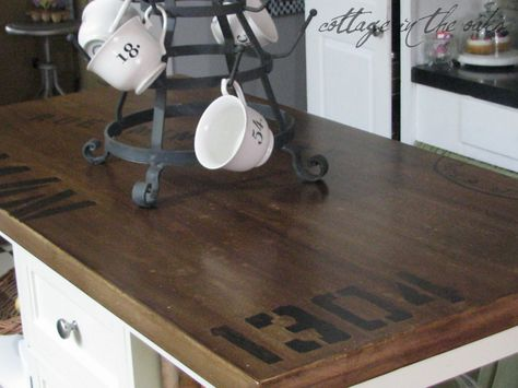How to distress/antique a kitchen island. DIY by Cottage in the Oaks.