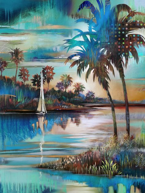 Modern Landscape Painting Artist Tim Parker Soyut Resimler Soyut Resimler