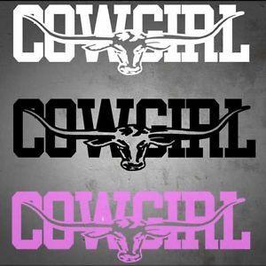 I Love My Cowgirl Bumper Sticker Vinyl Decal Country Girl Car Sticker Truck SUV