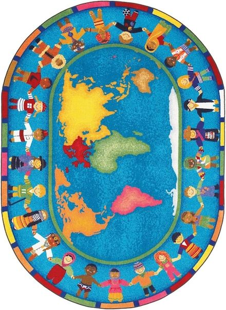 Joy Carpets Multi Joy Carpets Early Childhood Hands Around The World Rug Classroom Carpets Early Childhood Rugs