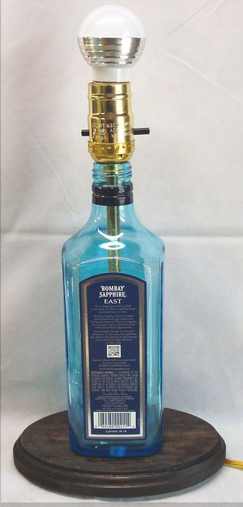 Bombay Sapphire upcycled Plug in Wall Light Lamp Industrial Pipe Style CE MARKED