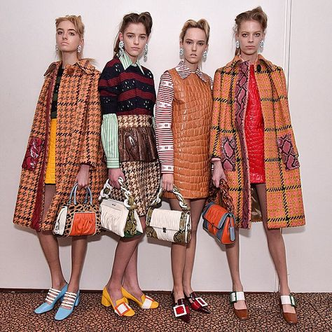 """Backstage at the Miu Miu F/W 2015 Womenswear Show."