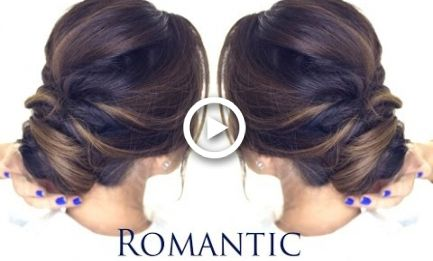 5 Minute Romantic Bun Hairstyle Easy Updo Hairstyles Easy Bun Hairstyles Bun Hairstyles Easy Hairstyles