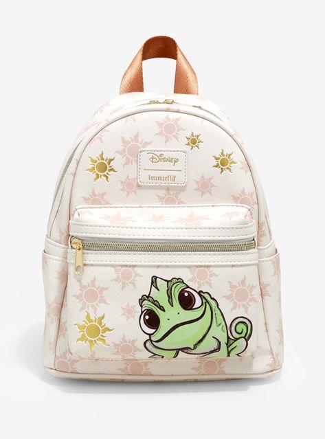 Loungefly Disney Tangled Pascal Sun Mini Backpack Source by hottopic and purses boho Mini Mochila, Cute Mini Backpacks, Girly Backpacks, Leather Backpacks, School Backpacks, Leather Bags, Cute Disney Outfits, Disney Purse, Disney Handbags