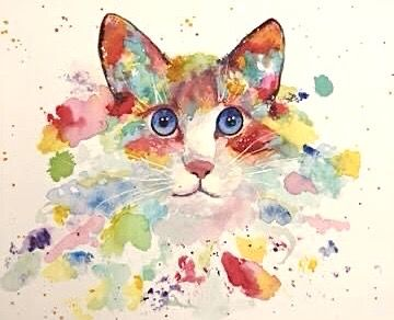 Pin Van Ruth Josephson Op Art Cats Dieren Schilder