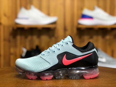 bf7a2090048 2018 Nike Air Vapormax Flyknit Girls Shoe Blue Black Pink AH9045-400 ...