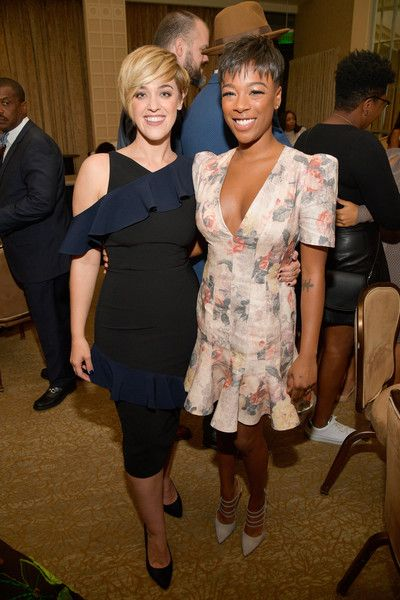 Lauren Morelli (L) and Samira Wiley attend the 49th NAACP Image Awards Nominees' Luncheon at The Beverly Hilton Hotel.