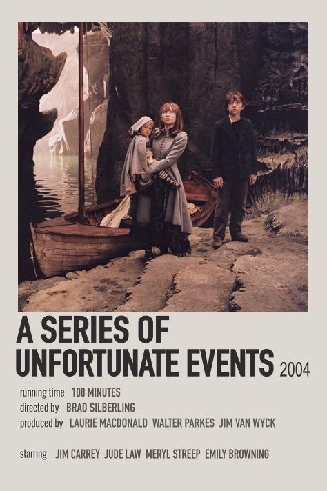 A series of unfortunate events polaroid movie poster