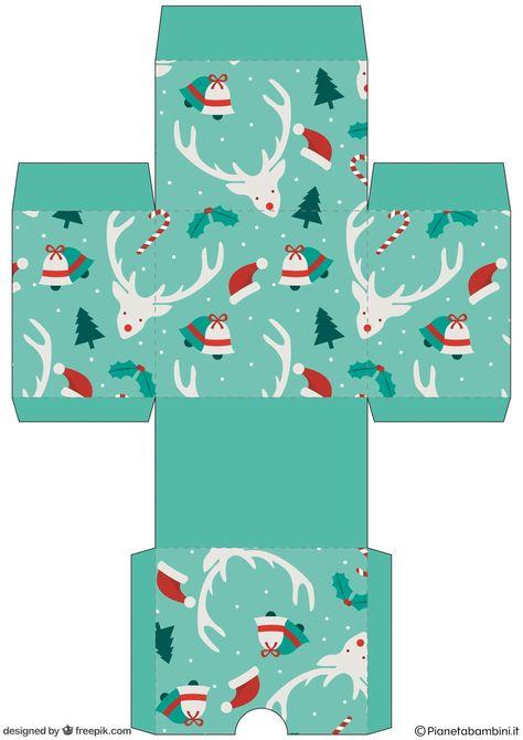Caja-cubo navideña