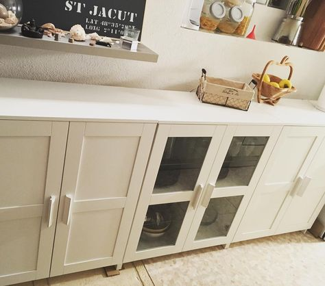 Ikea Brimnes Cabinets As A Console Or Buffet Add Wood Top New