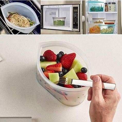 Zip Top Containers Stand Up - Reusable Zip Silicone Food Containers