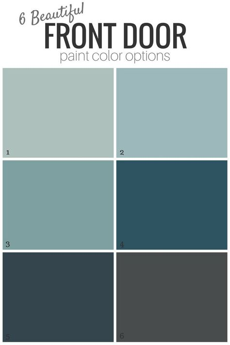 Front Door Paint Color or Leave it? Add curb appeal to your home with one of these gorgeous blue or gray front door paint color options!Add curb appeal to your home with one of these gorgeous blue or gray front door paint color options! Exterior Door Colors, Front Door Paint Colors, House Paint Exterior, Paint Colors For Home, Best Front Door Colors, Paint Colours, Paint For Front Door, House Shutter Colors, Exterior Design