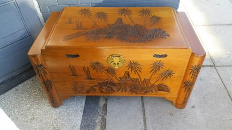 Camphor Wood Trunk From Singapore 1950s Vintage Interiors