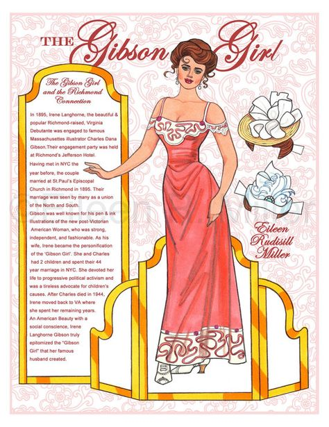 Gibson Girl Paper Doll by PaperDollsbyERMiller on Etsy, $19.00