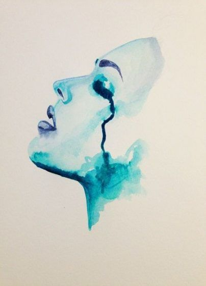 Super Painting Abstract Face Watercolors 42 Ideas Painting