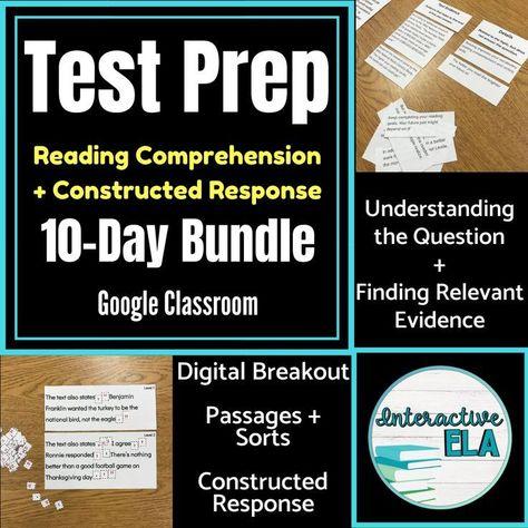 Test Prep Language Arts Digital Bundle