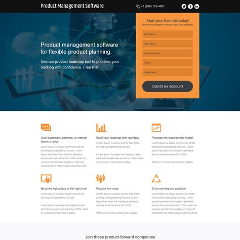 Download Product Management Software Free Trial Responsive Landing Page Design From Https Www Buylandingpagedesi Landing Page Design Landing Page Page Design