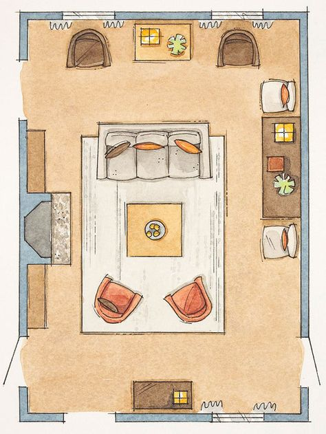 How To Arrange Furniture: No Fail Tricks. New Living RoomLiving ...