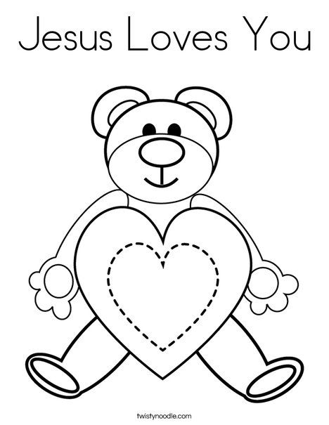 Jesus Loves Me Coloring Page Twisty Noodle Heart Coloring