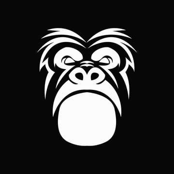 Gorilla Head Monkey Logo Face Ape Illustration Vector Wild Animal Icon Graphic Zoo Mammal Design Mascot Carto In 2021 Vector Logo Nature Vector Silhouette Illustration