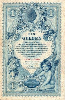 Scwpm Pa156 1 Gulden Austrian Banknote Very Fine Vf 01 07 1888