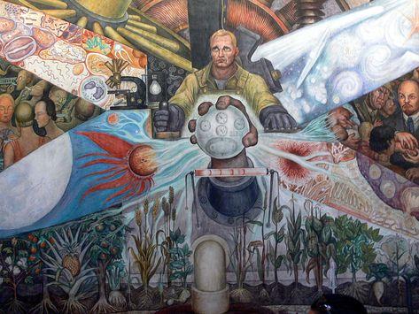 Palacio De Bellas Artes Mural El Hombre In Cruce De Caminos Rivera