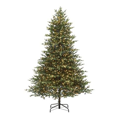 Home Accents Holiday 7 5 Ft Pre Lit Led Elegant Natural Fir Quick Set Artificial Christmas Tree Wi Artificial Christmas Tree Christmas Tree Led Christmas Tree