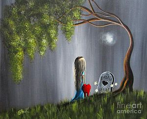 Surrealism Painting - Don't Worry I Won't Let That Happen To You By Shawna Erback by Shawna Erback