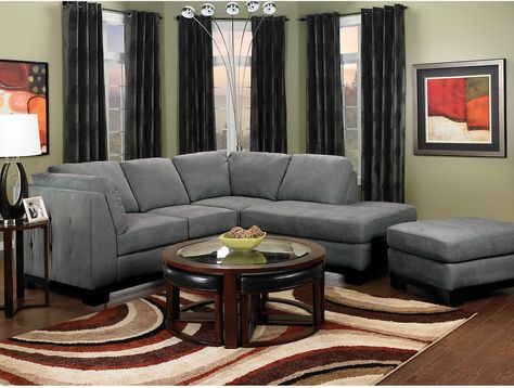 Oakdale 2-Piece Microsuede Sectional w/Right-Facing Chaise - Grey | The Brick | Furniture | Pinterest | Bricks Living rooms and Room : the brick sectionals - Sectionals, Sofas & Couches