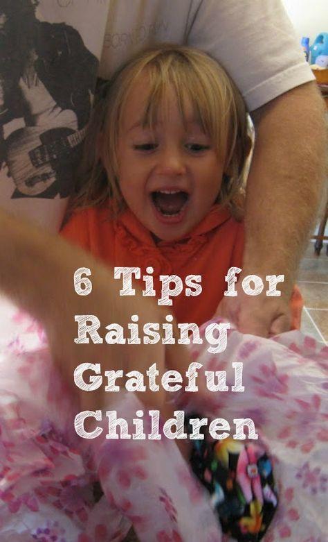 This is beautiful - raising grateful children.
