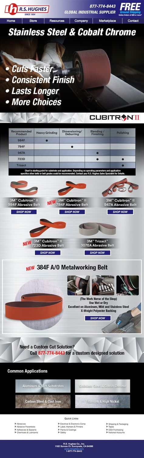 3m S New Abrasive Belts Are Designed To Prevent Heat From Building Up In The Workpiece Reduce Heat Related Cracks And Other M Substrate Cobalt Chrome Abrasive