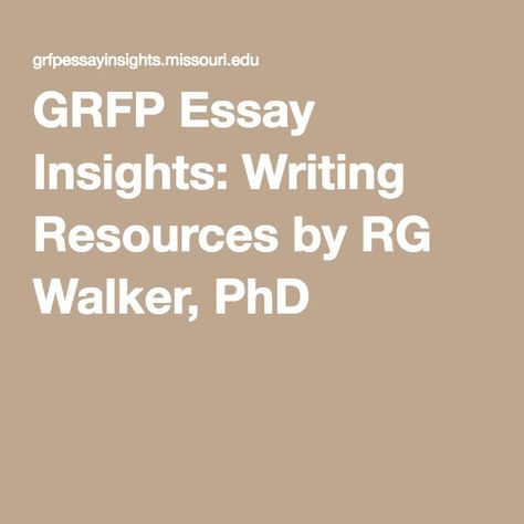 grfp essay insights