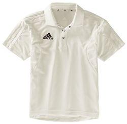 Adidas Short Sleeve Cricket Shirt Junior Shirts Adidas Shorts Mens Polo Shirts
