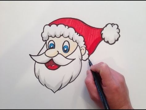 How To Draw Santa Claus Face Step By Step Lesson Cartoon Easy Beginners With Coloring Page Y How To Draw Santa Easy Santa Drawing Santa Claus Drawing Easy