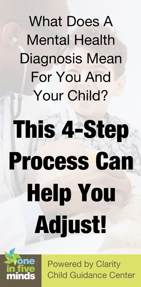 What Does A Mental Health Diagnosis Mean For You And Your Child? This 4-Step Process Can Help You Adjust