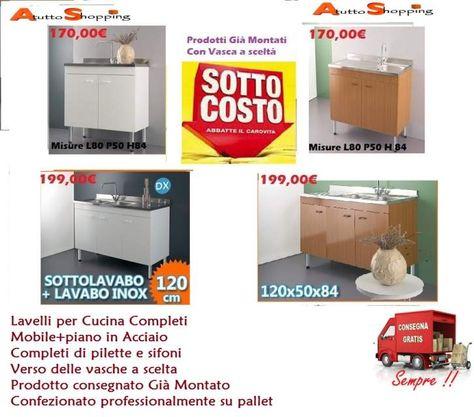 Mobile lavello cucina | Arredamenti & Complementi | Lavelli ...