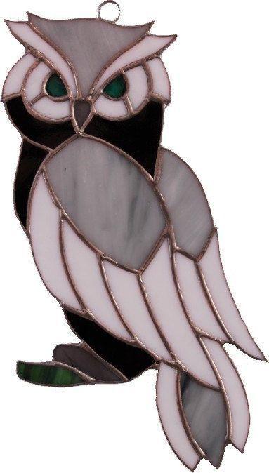 Stained Glass Owl Suncatcher Order An Oil Paintin Capital Of Design In 2020 Tiffany Glas Glasmosaik Glasmalerei
